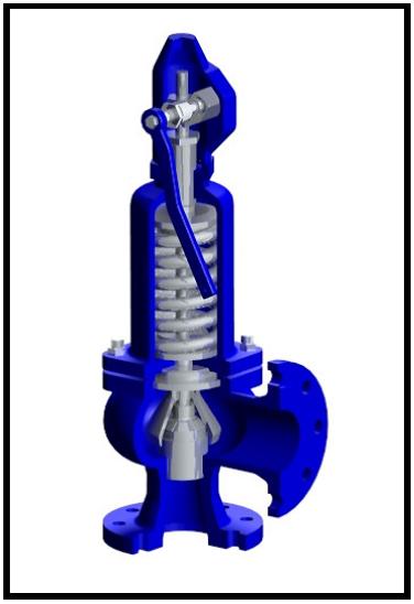 Клапан предохранительный сбросной пружинный угловой